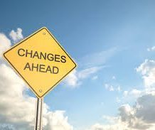 "road sign that reads ""changes ahead"""