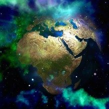 earth's continents transposed over space new vision