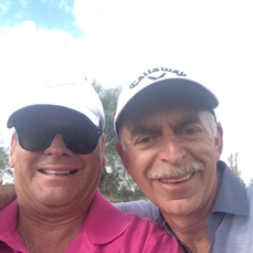Photo of golf buddies