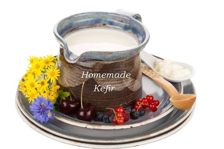 pitcher of homemade kefir