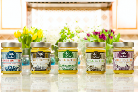 Jars of ghee butter