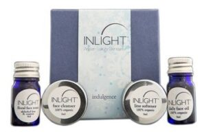 Inlight Skin Care Indulgence Kit Box and Products