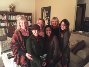 Trina Becksted and friends at her annual Goddess Soiree in Aurora