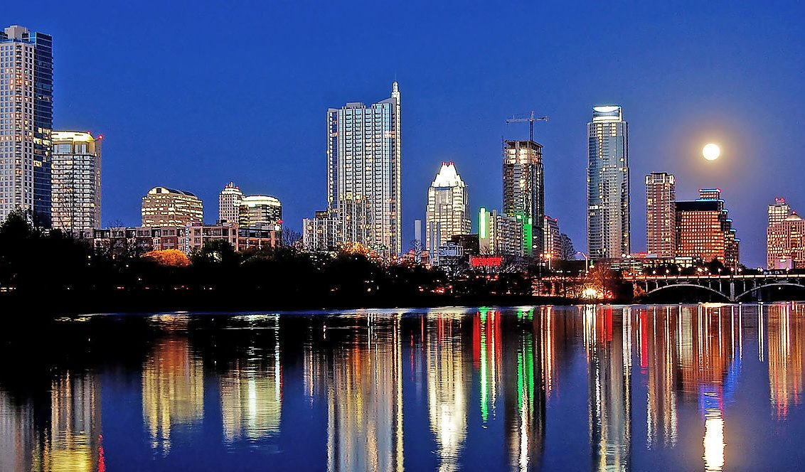 Night Time Skyline of Austin, Texas