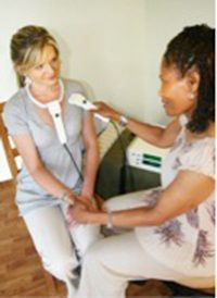 lady receiving biofeedback treatment