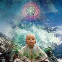 baby buddha meditating