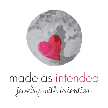pink heart on grey background logo with the words made as intended written in grey with intended in prink below and the words jewelry with intention written in gray
