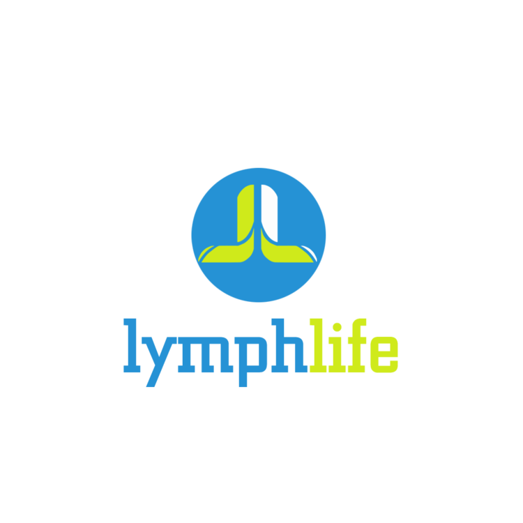 lymph life blue and green colored logo