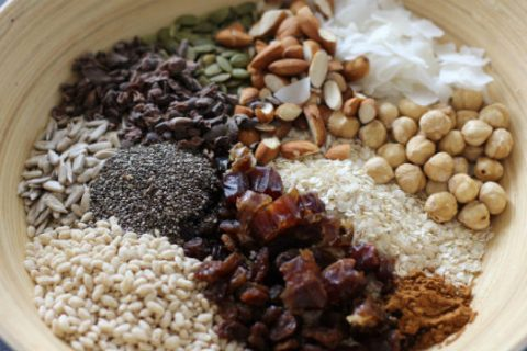 summer muesli ingredients