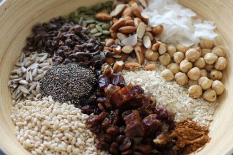 summer muesli ingredients