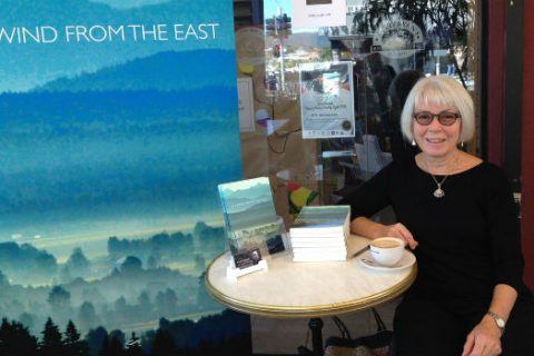 Author Wendy Dartnall at book signing of A Wind From the East
