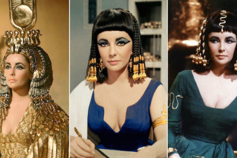 Actress Elizabeth Taylor as Cleopatra